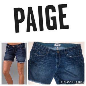 Paige Jean Shorts Jimmy Jimmy distressed frayed